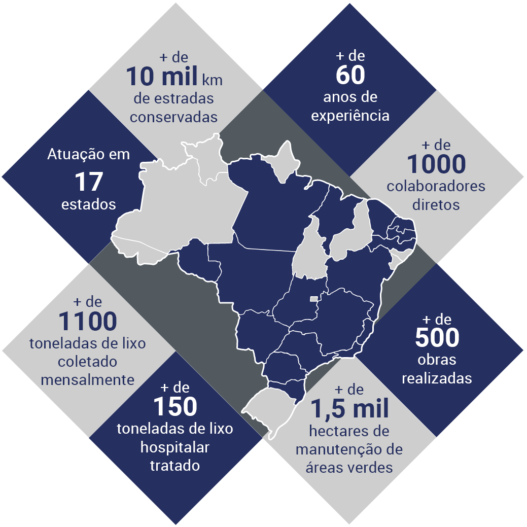 mapa de atuação Grupo Rodocon
